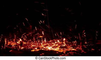 Fire Color Heat Water Drops Splash