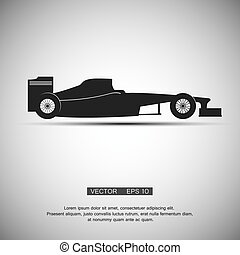 the black symbol a formula 1, vector illustration