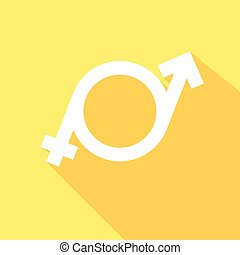 minimalistic illustration of a transgender symbol, vector -...