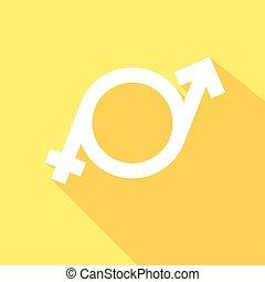 minimalistic illustration of a transgender symbol, vector -...