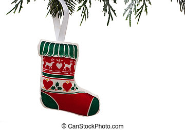 Christmas Stocking - A Christmas stocking hanging from a...