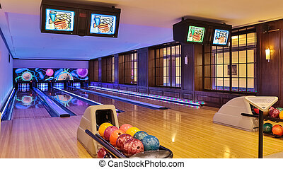 Bowling line - The inside shuts of the bowling center
