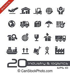 Industry & Logistics Icons - Basics - Vector icons for your...