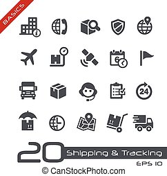 Shipping & Tracking Icons - Basics - Vector icons for your...