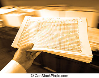 Businessman Holding Documents Spreadsheets - Businessman in...