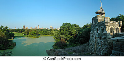 Belvedere Castle in Central Park - New York City, USA,...