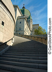 St. Joseph Oratory - staircase to St. Joseph Oratory in...