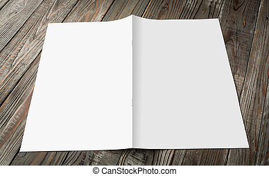 Blank catalog, magazines,book mock up on wood background (...