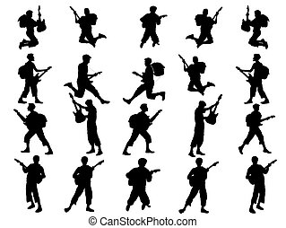 young guitarist collection-silhouette