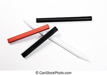 不同, 藝術,  sanguine, 郵票, 粉筆,  tools:, 種類,  charc