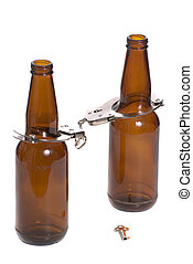 Beer Bottles With Handcuffs