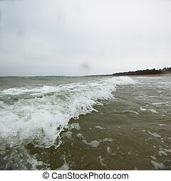 Baltic sea on a stormy day