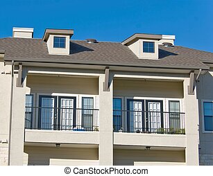 Dormer Windows - Example of dormer windows and French doors