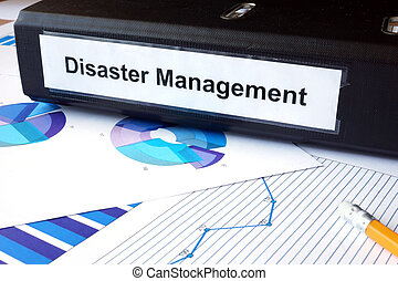 Disaster Management - Graphs and file folder with label...