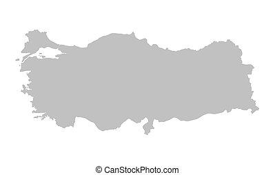 grey map of Turkey