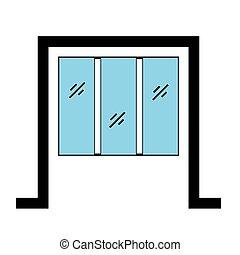Glazed window with frame