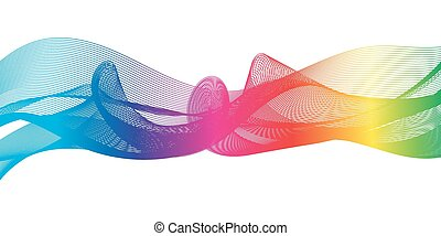 Rainbow ribbon - Abstract background as a rainbow ribbon on...