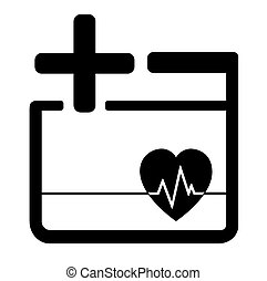 medicine icon with heart and cross - black medicine icon...