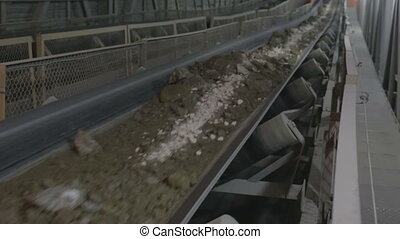 mining industry - ore on the conveyor belt