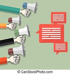 Megaphones - social marketing