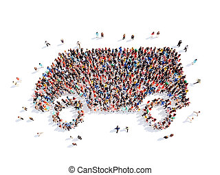 people in the form of car.