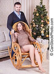 Pregnant in a chair