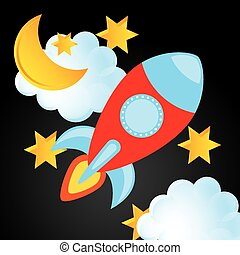 space drawn design, vector illustration eps10 graphic