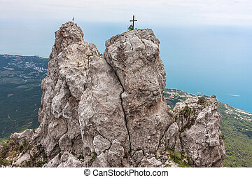Crimean Mountains - High rocks Ai-Petri of Crimean...