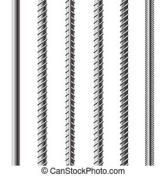 Construction armature - Rebars, Reinforcement Steel Isolated...