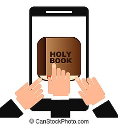 holy book app design, vector illustration eps10 graphic