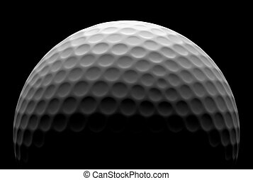 Golf ball in the dark - White golf ball in the dark,...