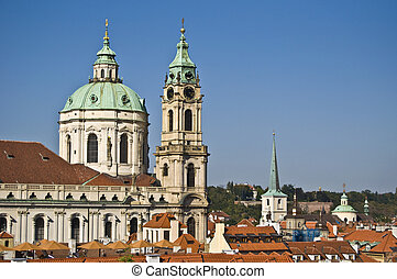 St Nicolas - view of St Nicolas in Mala Strana in Prague