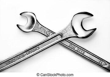 heavy duty 2 - two crossed metal heavy duty tools