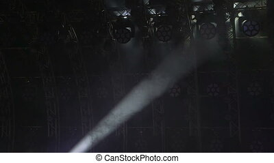 Stage Lights abstract background - Flashing lights on stage...