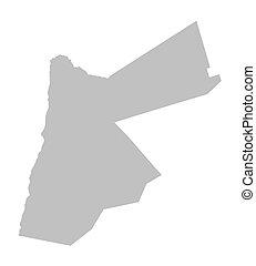 grey map of Jordan