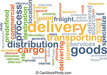 delivery wordcloud concept illustration