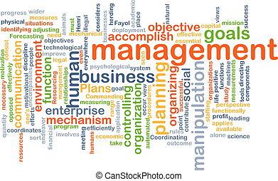 management wordcloud concept illustration