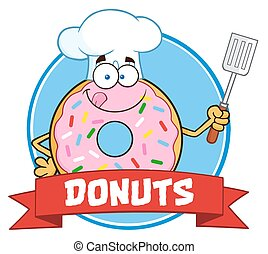 Chef Donut Cartoon Character
