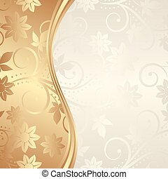 background - golden background with floral ornaments