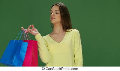 Woman Holding Her Purchases