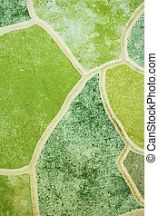green tile mosaics background texture