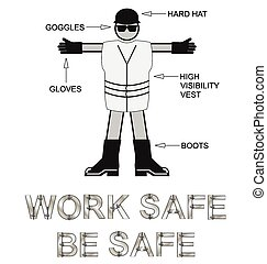 Personal Protection Equipment - Monochrome Construction...