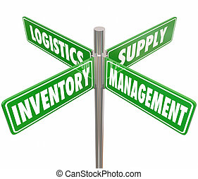 Inventory Management Logistics Supply Control 4 Way Road...