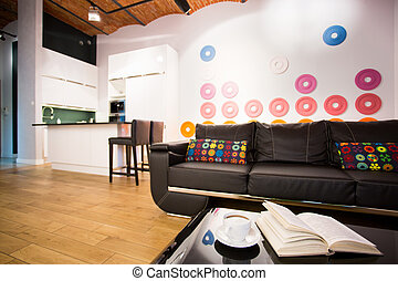 Modern interior for young people - Color modern interior...