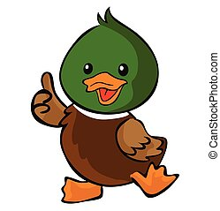 Thumb up duck