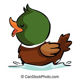 Swimming duck Vector Clip Art Royalty Free. 440 Swimming ...
