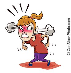 Angry woman Vector Clipart EPS Images. 4,032 Angry woman ...