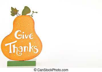 Give Thanks Frame - Thanksgiving pumpkin that says Give...