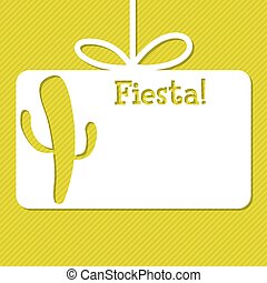 Cactus cut out tag card in vector format