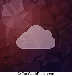 Cloud in flat style icon